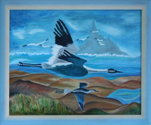 Oies Sauvages au Dessus du Mt St Michel